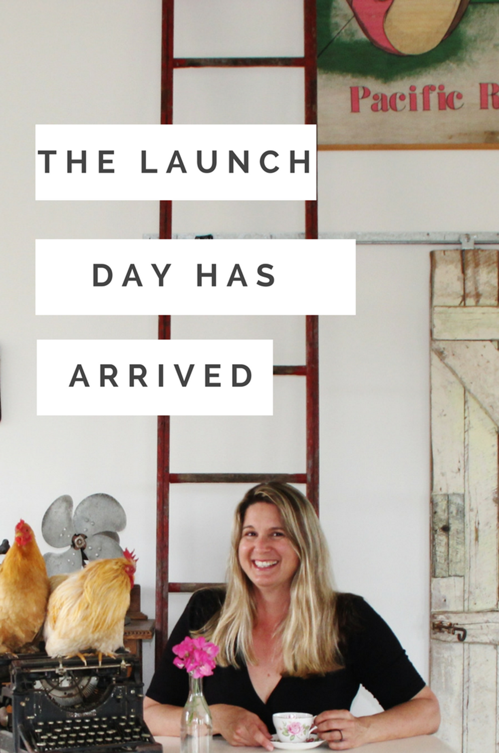 launch day ecourse and website for blog